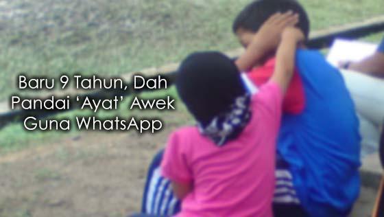 Baru 9 Tahun, Dah Pandai 'Ayat' Awek Guna WhatsApp
