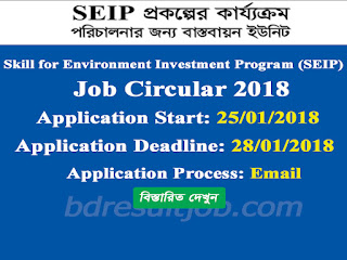 SEIP - Skill for Environment Investment Program Job Circular 2018