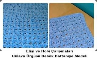 Oklava Örgüsü Bebek Battaniye Modeli Yapımı, Resimli Açıklamalı 2