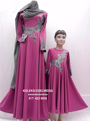 DRESS SET IBU ANAK PINK