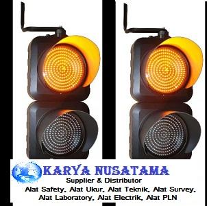Jual Warning Light Traffic Light 2 aspek + Solar Cell Murah di Jakarta