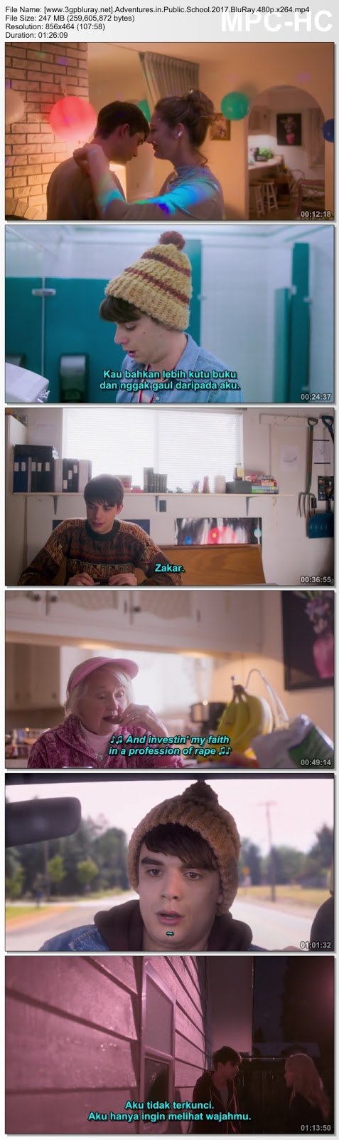 Screenshots Download Adventures in Public School (2017) BluRay 480p & 3GP Subtitle Indonesia