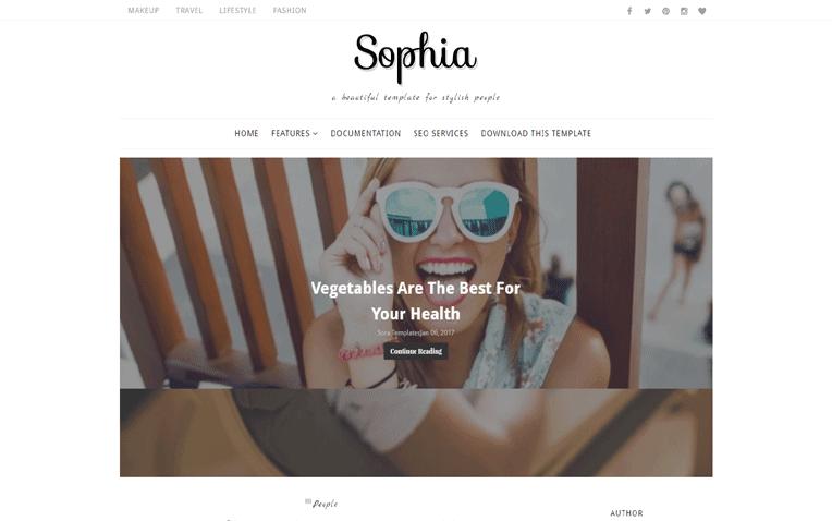 Sophia Free Blogger Template
