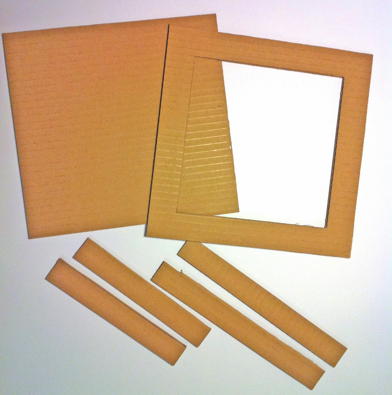 Como hacer un marco de fotos con carton for Hacer marcos para cuadros economicos