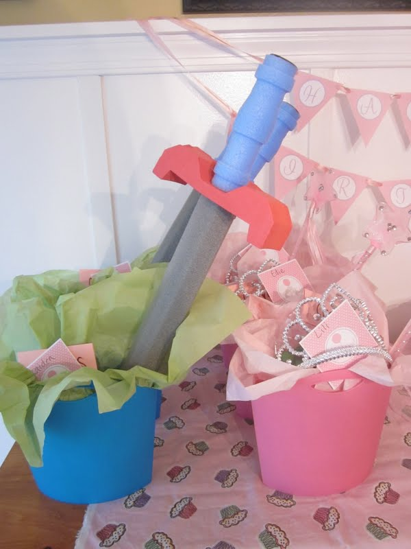 Favors Swords For The Boys And Tiaras Wands Girls Homemade Crayons Everyone