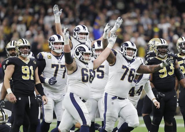 FÚTBOL AMERICANO - Los Rams dieron el golpe y sacaron boleto hacia Atlanta