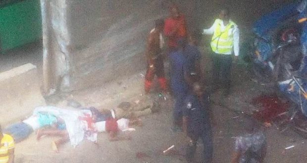 Eight feared dead in motor crash at Tantra Hill on the Nsawam-Accra road
