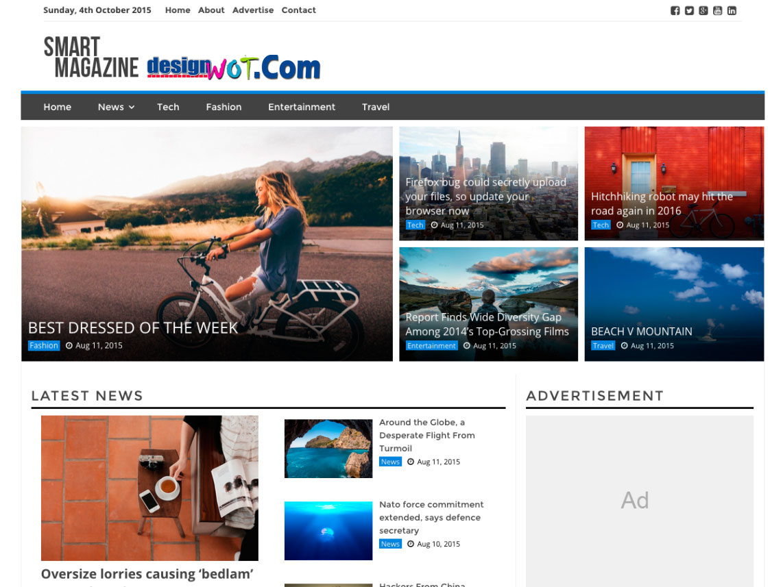 SMART MAGAZINE Responsive WordPress Theme
