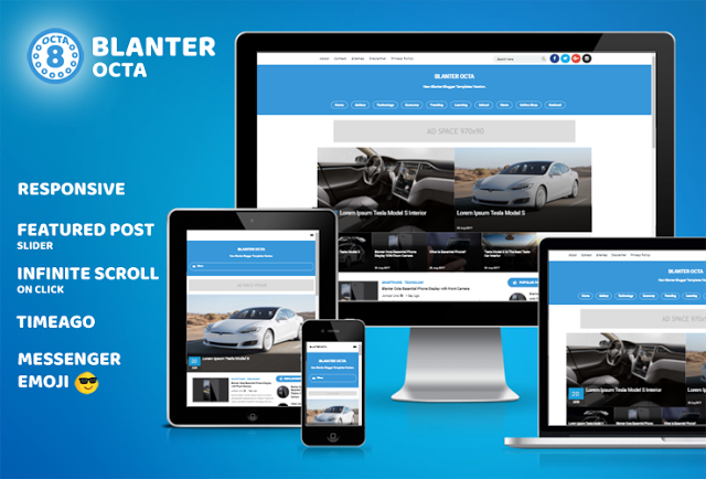 Blanter Octa Blogger Template Free Download