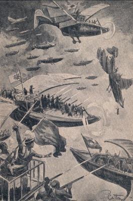 Marsi csatajelenet a Mars istenei könyvből