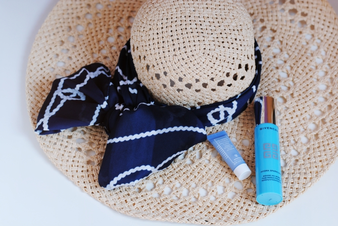 DIY floppy straw hat scarf embellishment