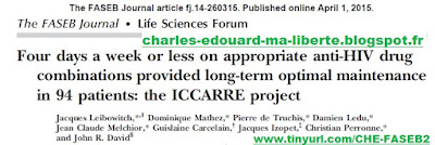 ICCARRE FASEB Jacques Leibowitch publication article ANRS Christian Perronne Pierre de Truchis