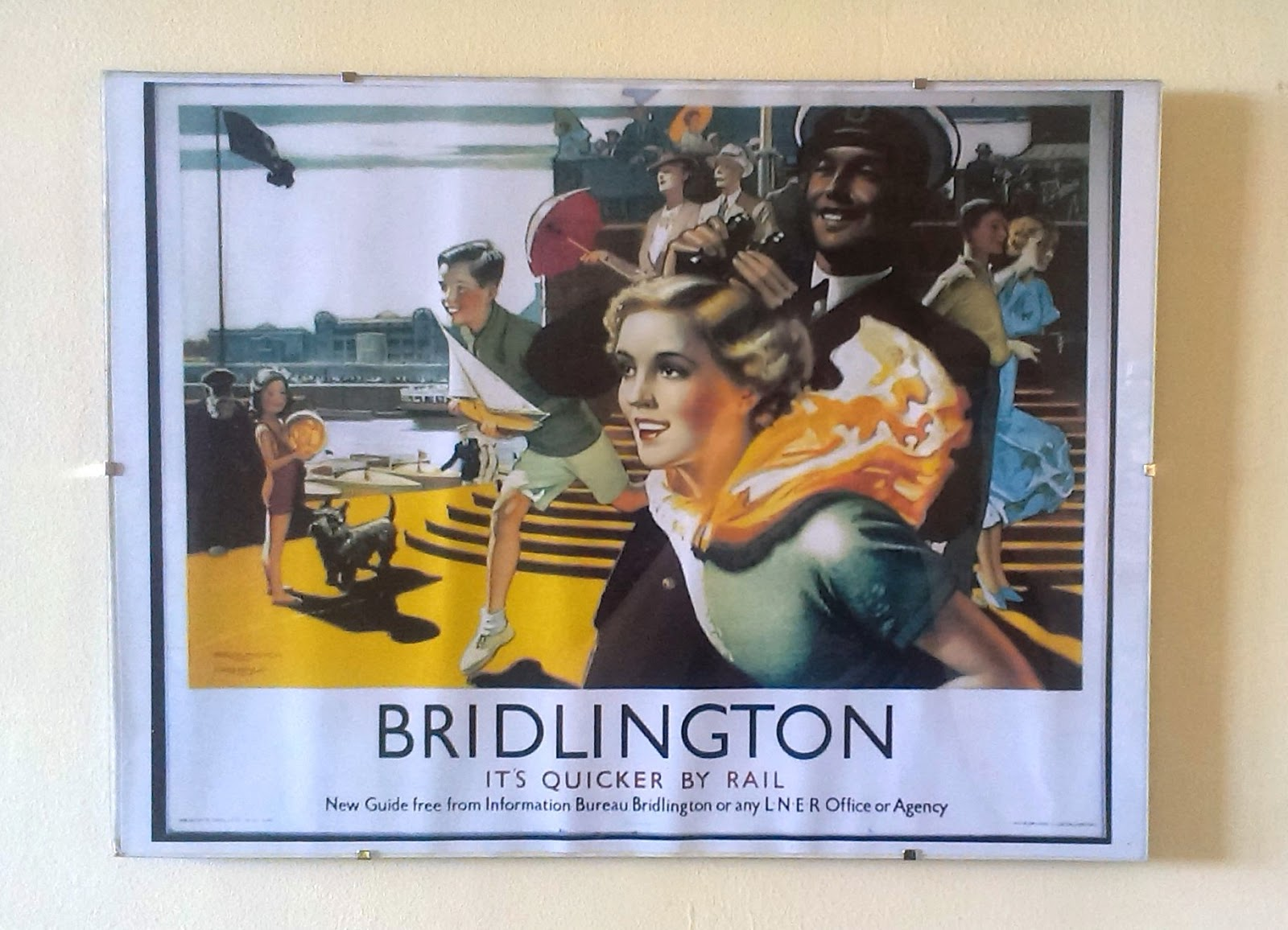Bridlington tourist poster