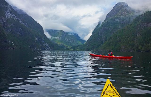 Journée kayak dans la fjord Hardanger, Norvège du sud