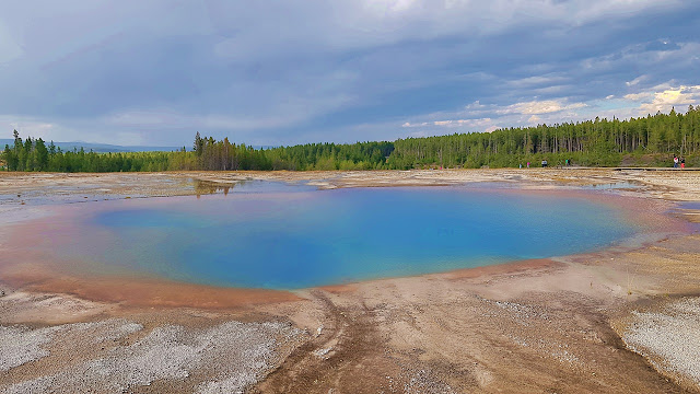 One of Yellowstone's many thermal pools...