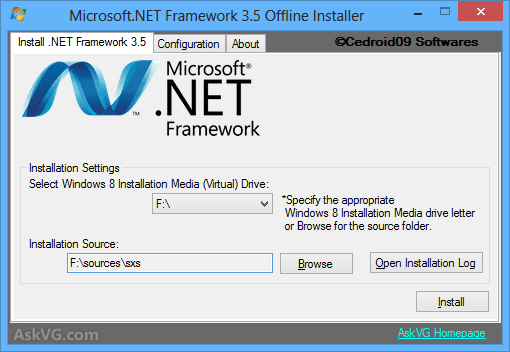 Cara Install Net Framework di Windows 8
