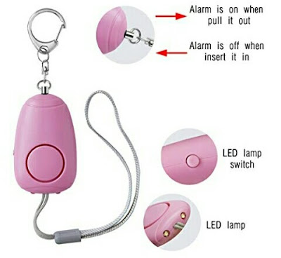 BWS SOS Alarm Key Chain - Personal Security Emergency Siren with Flashlights