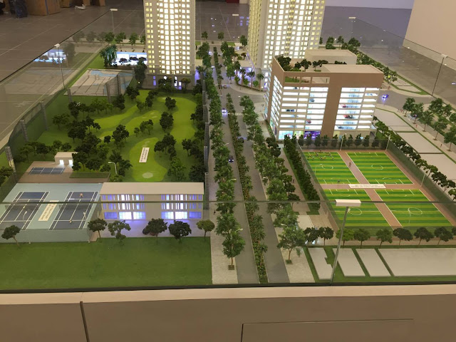 Không gian xanh dự án chung cư Eco Lake View