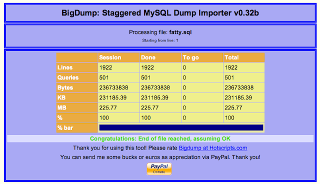 Import Large MySQL Databases