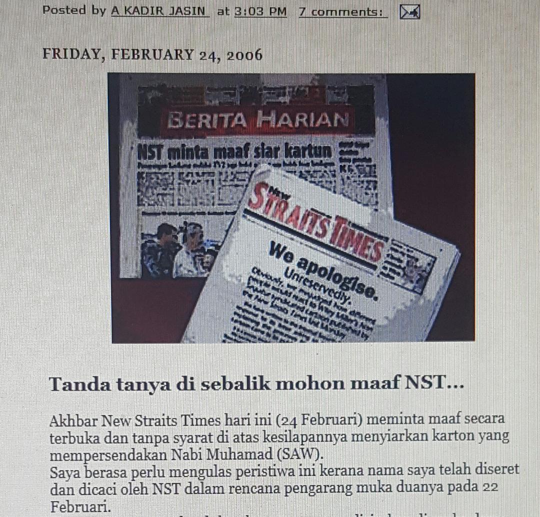 Robert Budi Hartono: A. Kadir Jasin's Blog