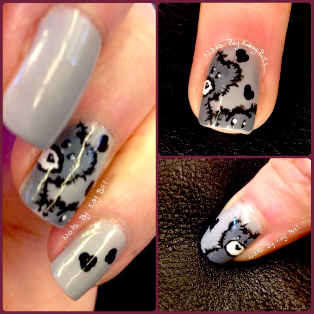Bear Nail Art: Nails By KayBel: Freehand Teddy Bears Nail Art (inspired