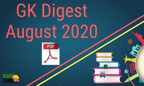 GK Digest August 2020 - Download PDF