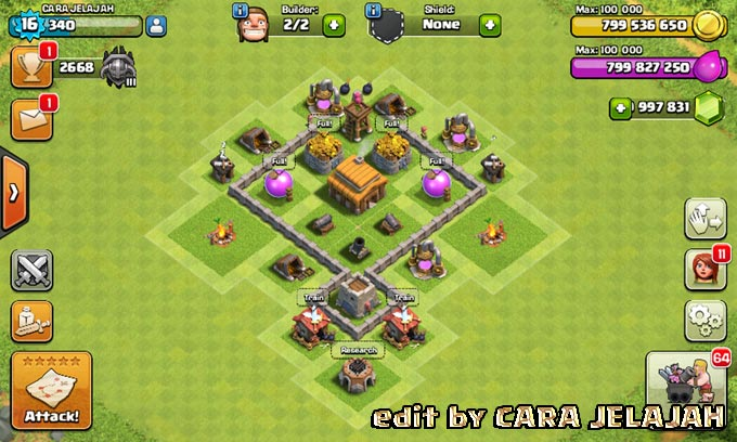 Desain Base Hybrid Clash Of Clans Town Hall 3 Update Terbaru 12