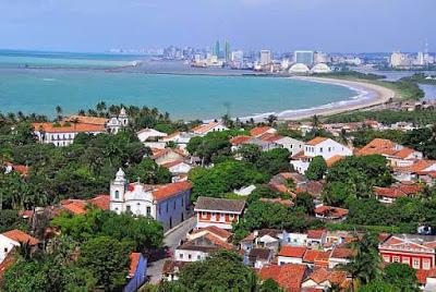 Vista das duas cidades Recife e Olinda