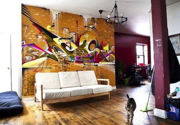 Grafiti Indoor El Arte Urbano Se Cuela En Casa - Graffitis-en-casa