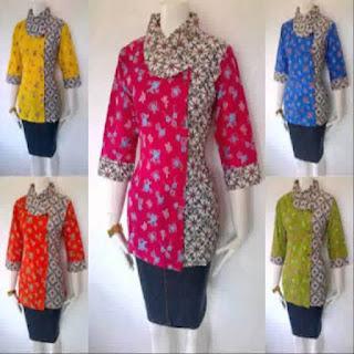 model baju batik untuk orang gemuk dan pendek