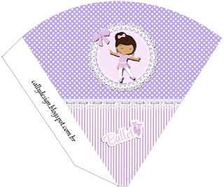 Ballerina in Purple: Free Printable Invitation and Boxes.