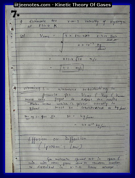 Kinetic Theory Of Gases7