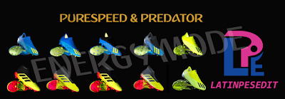PES 2018 / PES 2017 Adidas Predator & PureSpeed Pack X18 & X18.1 by LPE09
