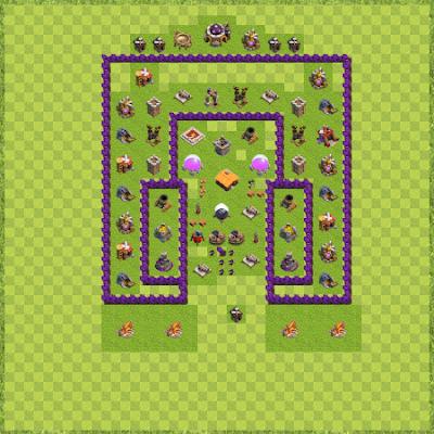 War Base Town Hall Level 7 By Sevrina Garza (TH 7 Layout)