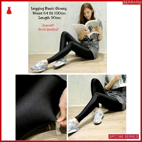 SPC188C42 Celana Leging Elastis Kulit Celana Wanita | BMGShop