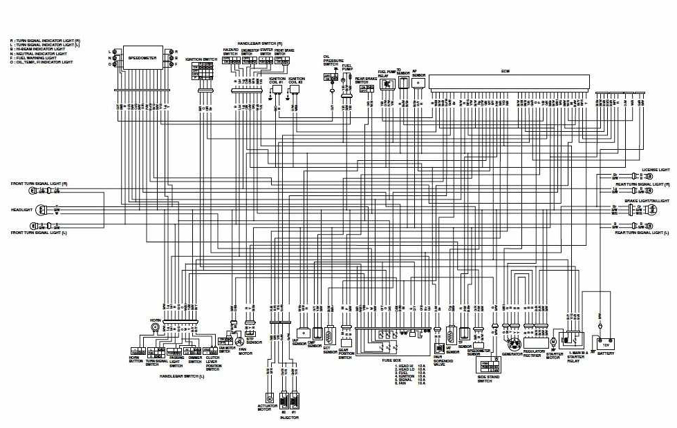 Wiring diagram for suzuki motorcycle