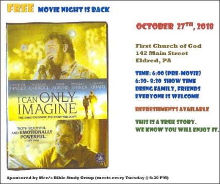 10-27 Movie Night, Eldred
