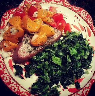 21 day fix, 21 day fix approved, healthy eating, clean eating, healthy ahi tuna, ahi tuna recipe, orange salsa verde, whole goods, 21 day fix extreme