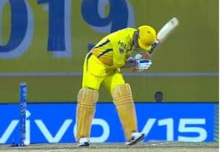 kuldeep yadav ms dhoni, mahendra singh dhoni, m s dhoni csk, Chennai Super Kings, ms dhoni images, MS Dhoni survives even after ball hits stumps, IPL 2019, ms dhoni csk 2019, ms dhoni the untold story,