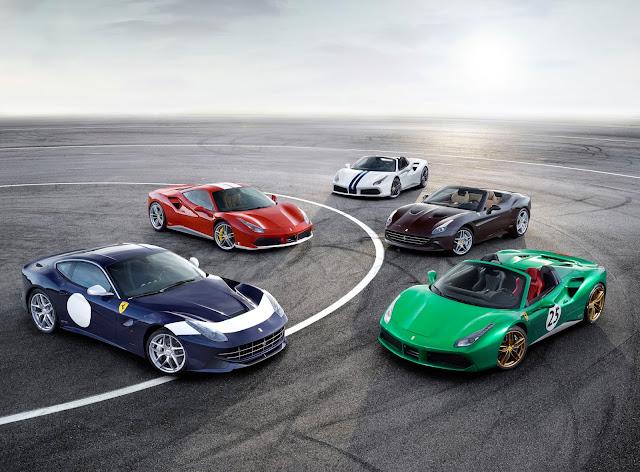 Five 70th Anniversary Ferrari Models Unveiled At The Paris Motor Show