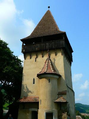 Imagini Romania: biserica fortificata de la Biertan, turn de aparare