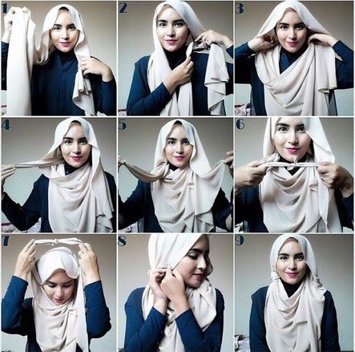 10 Tutorial Model Hijab Modern Terbaru Dan Populer 2016