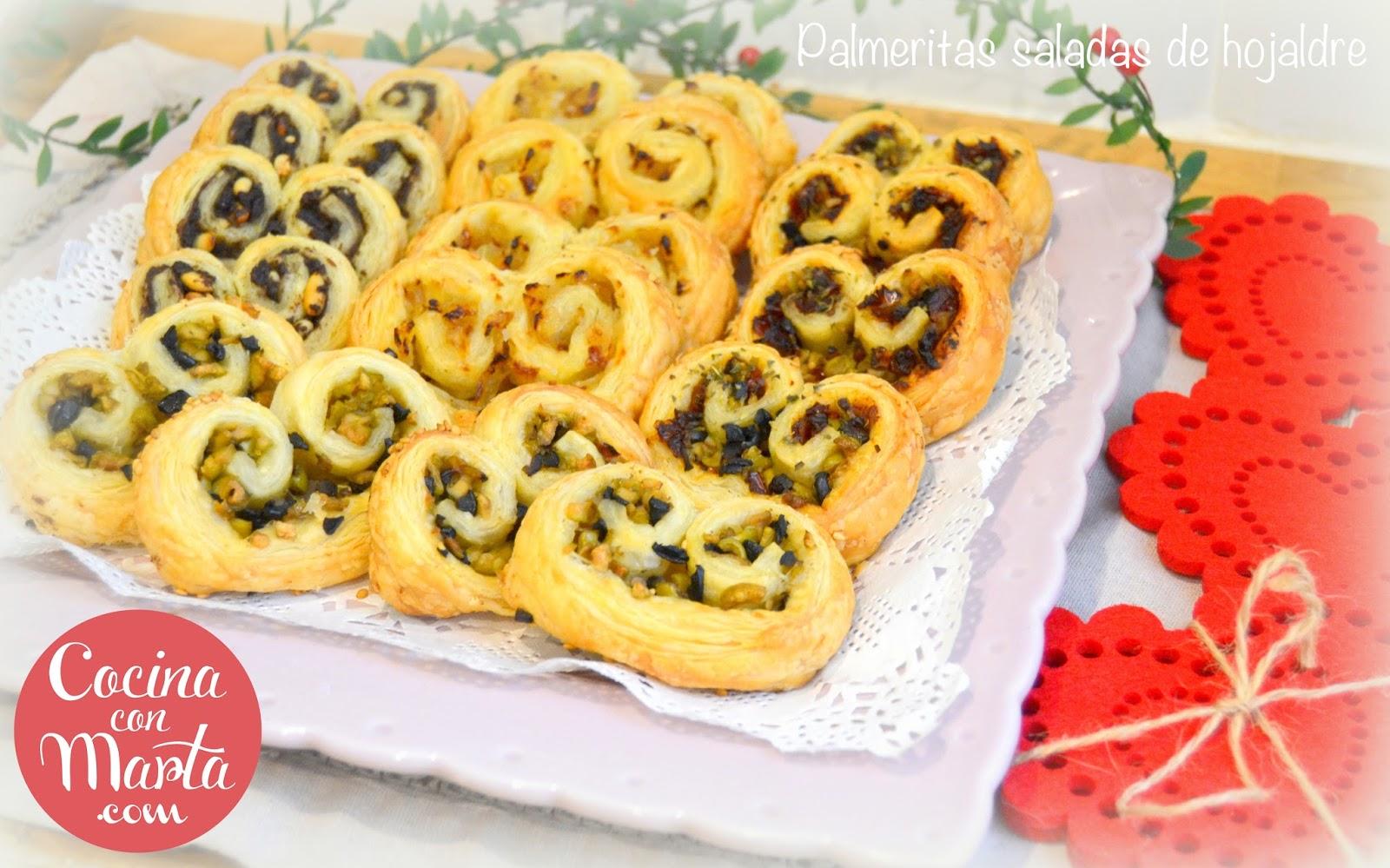 Palmeritas saladas de hojaldre for Cocina facil para navidad