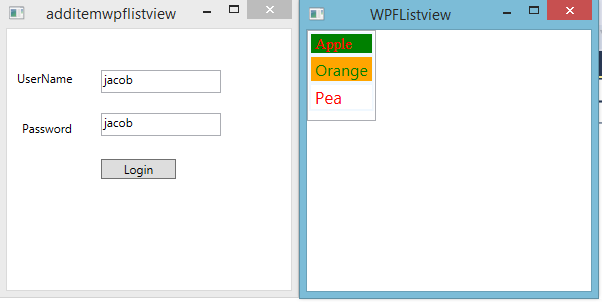 Example of Login form in WPF