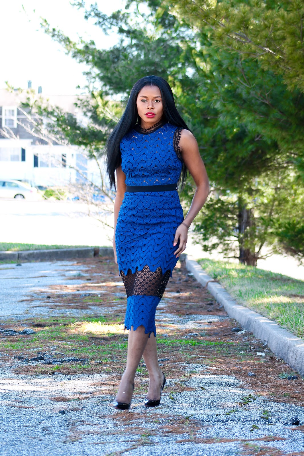 Blue Sheer Lace