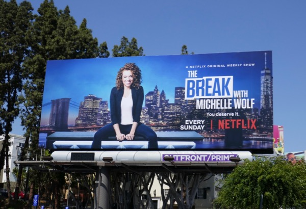 Break Michelle Wolf season 1 billboard