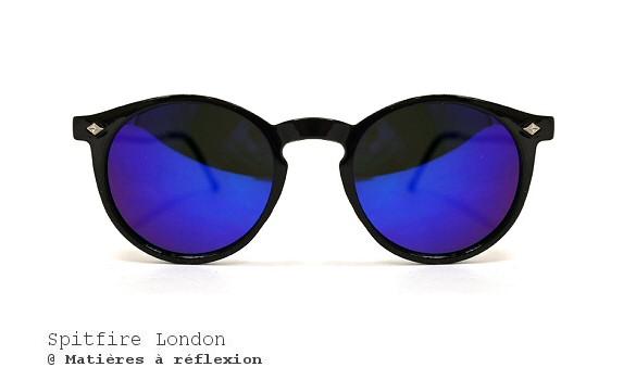 Lunettes de soleil noir et bleu Spitfire London