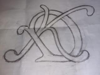 Rascunho manual do desenho do logo