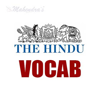 The Hindu Vocabulary For SBI Clerk Prelims | 01-05-18