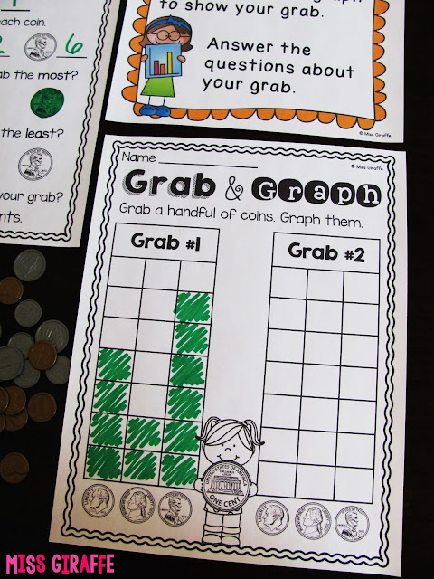 Graphing coins money activities - click this for a ton of teaching money to kids games and ideas